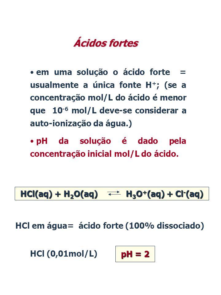 HCl(aq) + H2O(aq) H3O+(aq) + Cl-(aq)