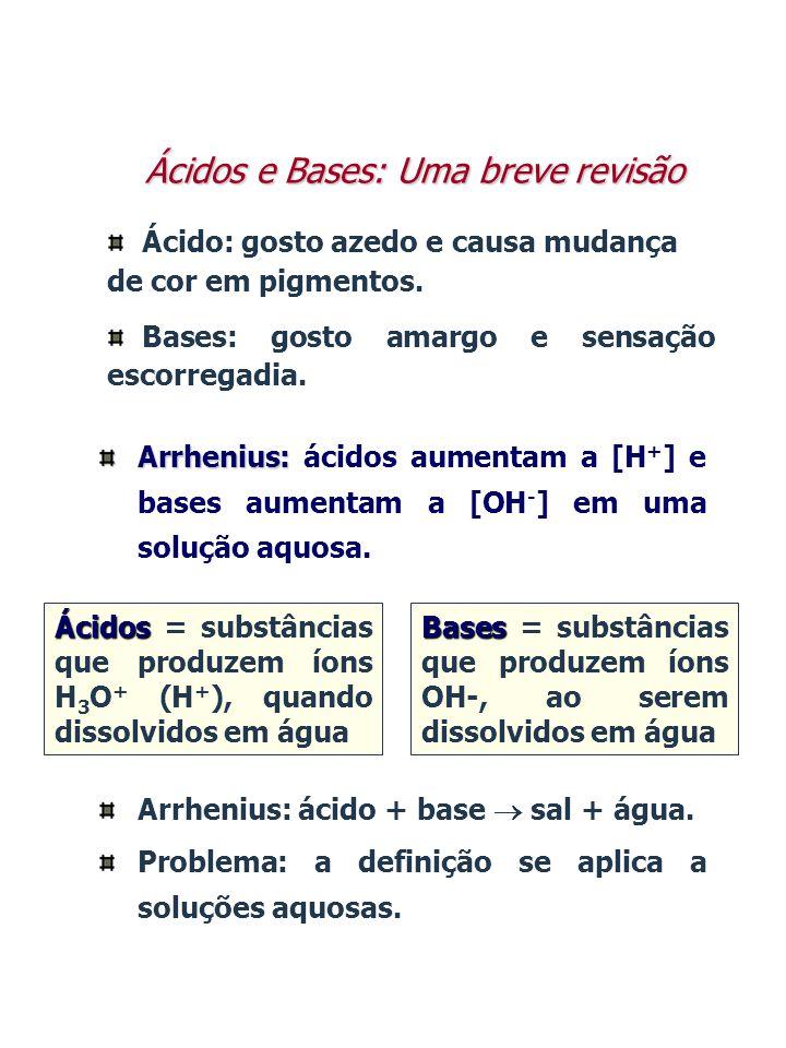 Ácidos e Bases: Uma breve revisão