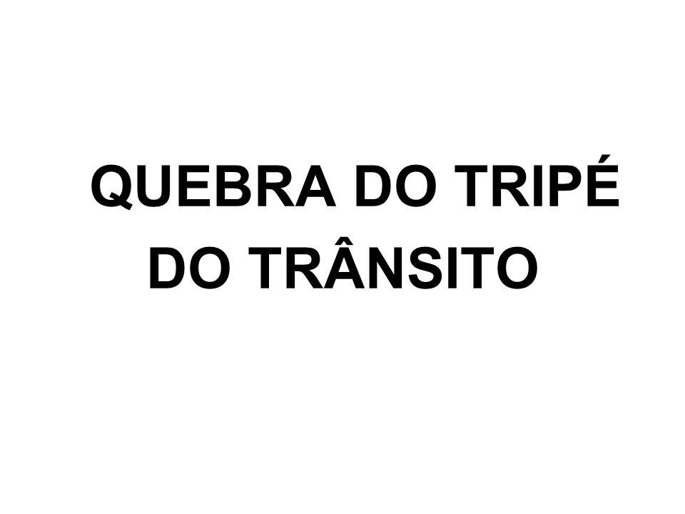 QUEBRA DO TRIPÉ DO TRÂNSITO