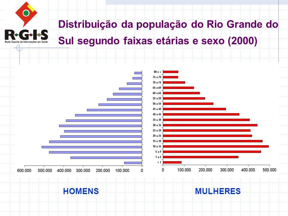 Distribuição da população do Rio Grande do Sul segundo faixas etárias e sexo (2000)