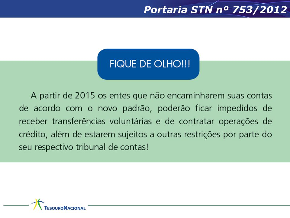 Portaria STN nº 753/2012
