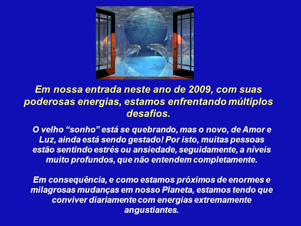 Em nossa entrada neste ano de 2009, com suas poderosas energias, estamos enfrentando múltiplos desafios.