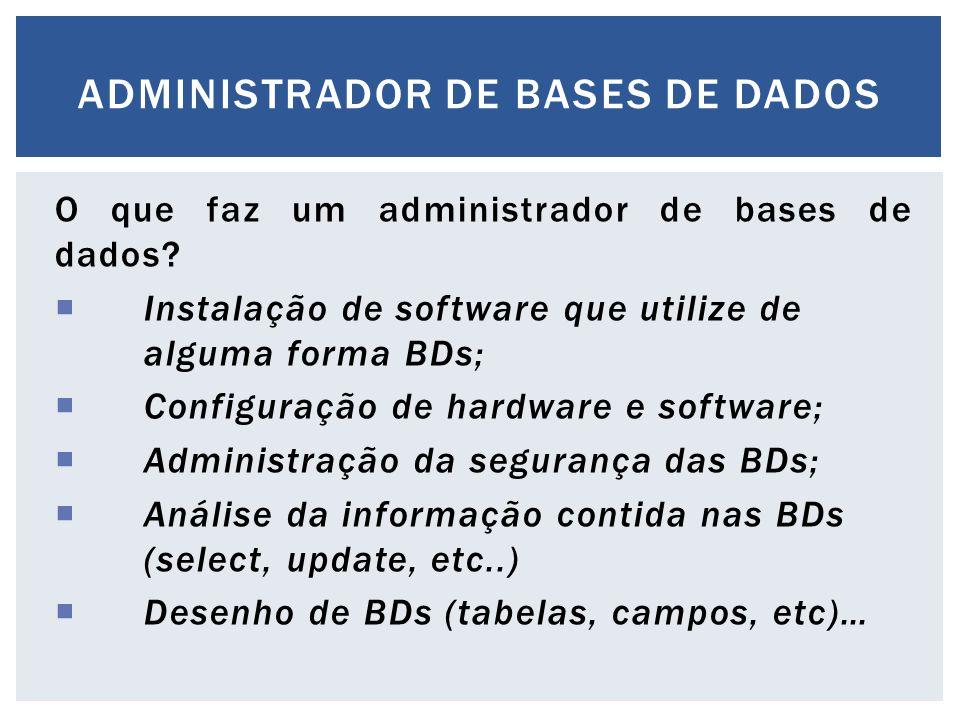 Administrador de bases de dados