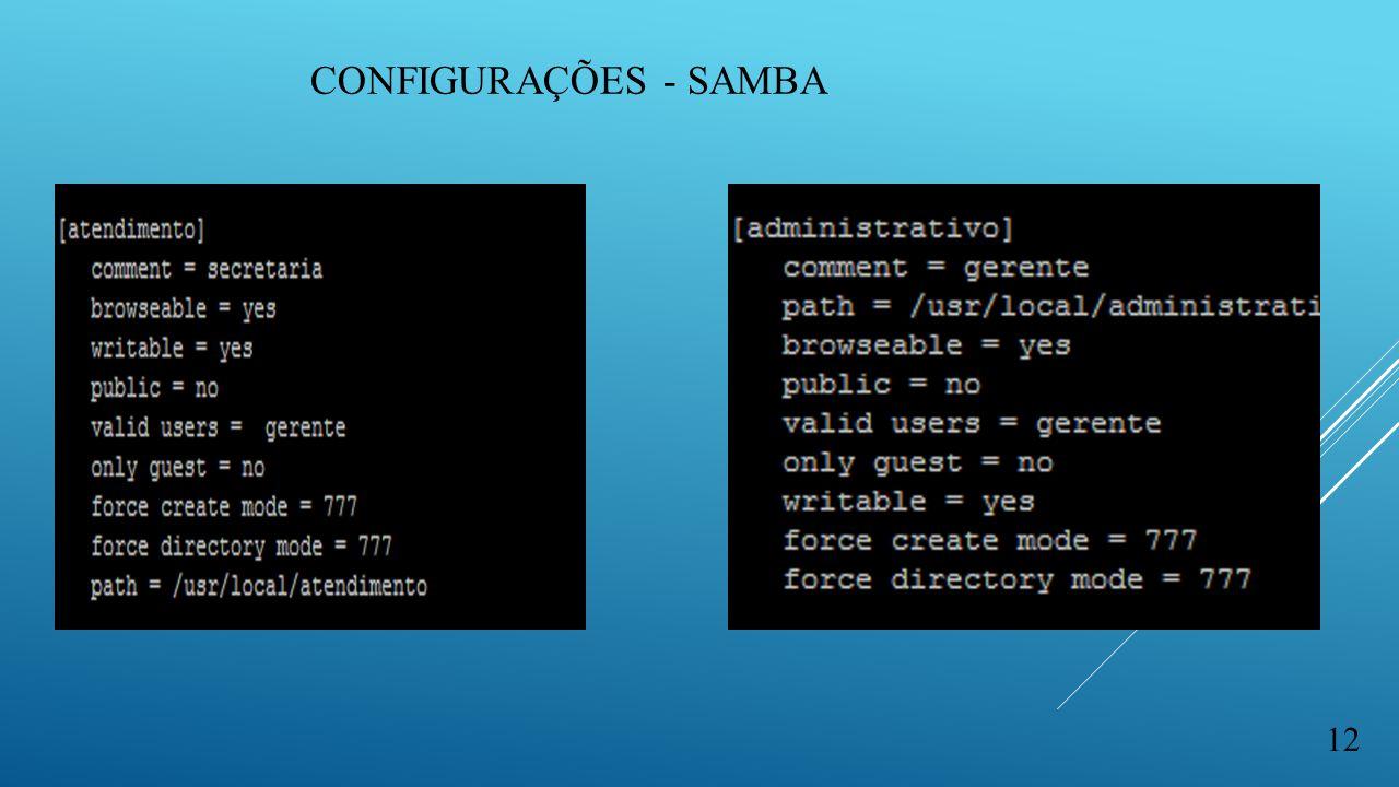 Configurações - samba