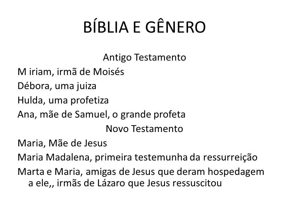 BÍBLIA E GÊNERO