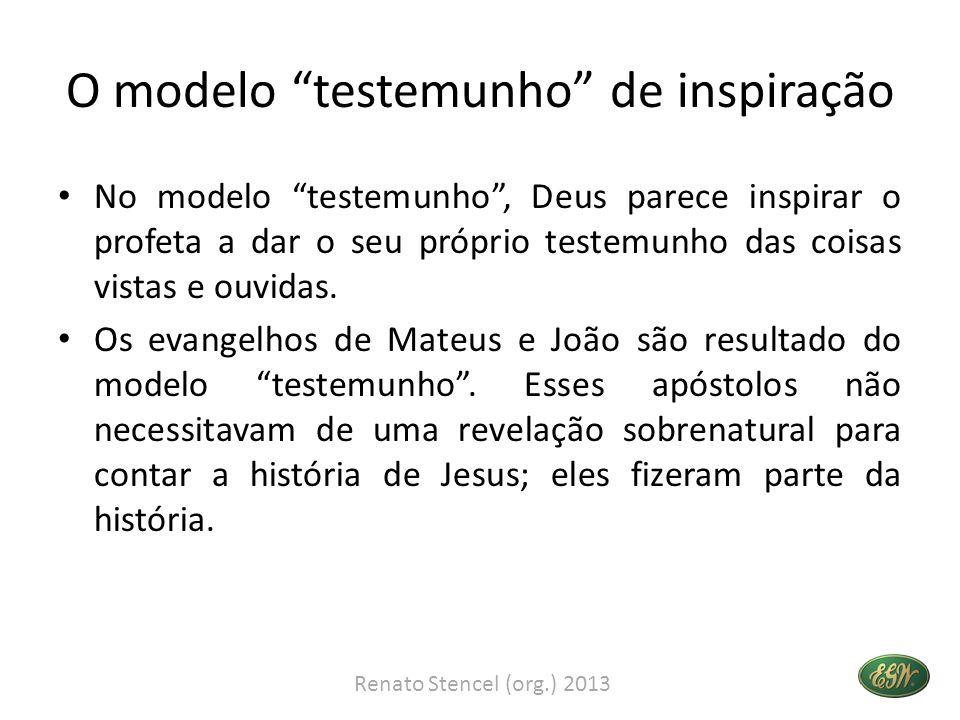 O modelo testemunho de inspiração