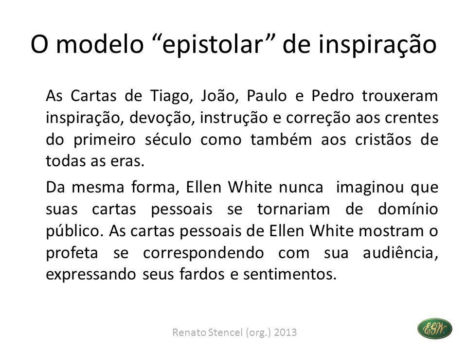 O modelo epistolar de inspiração