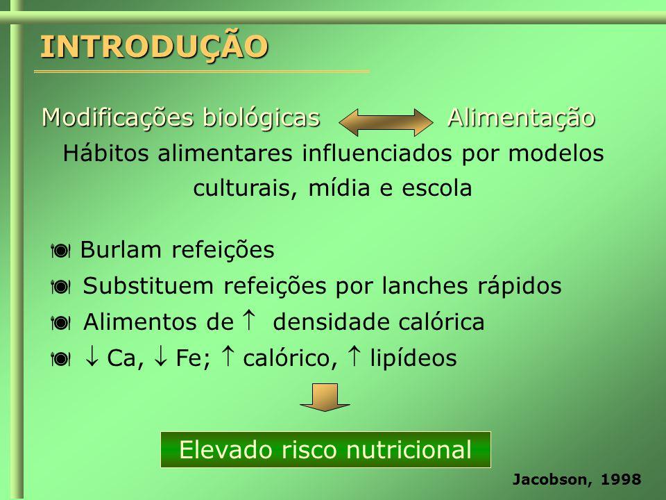 Elevado risco nutricional