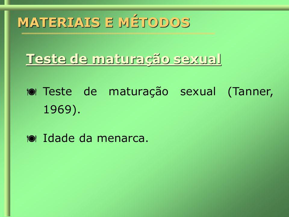Teste de maturação sexual