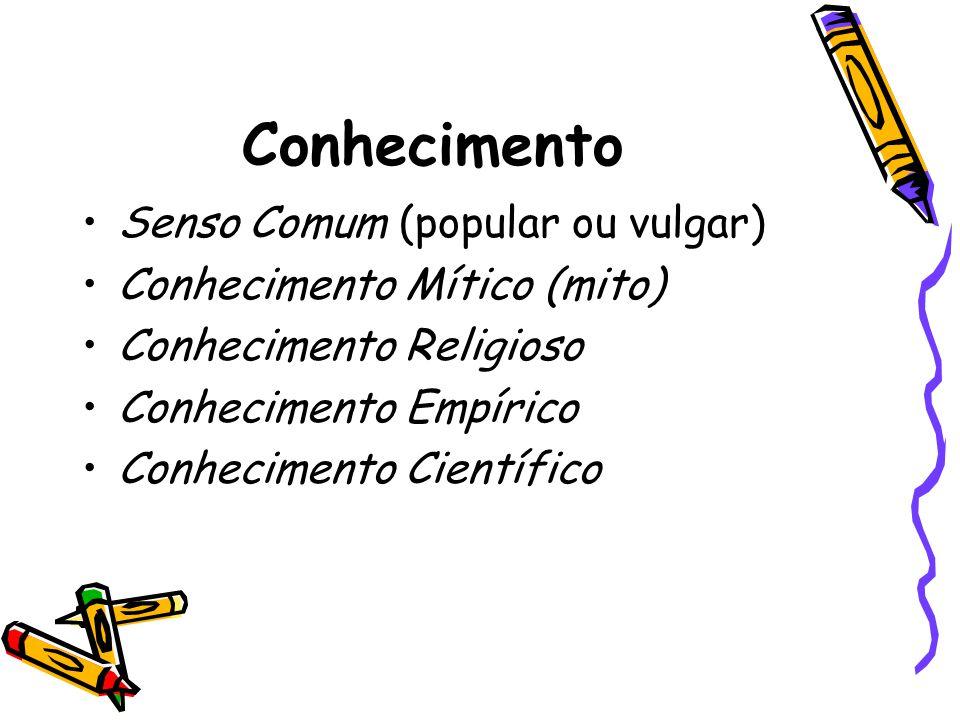 Conhecimento Senso Comum (popular ou vulgar)