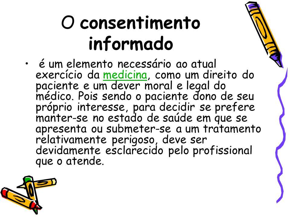 O consentimento informado