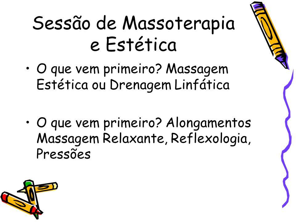 Sessão de Massoterapia e Estética