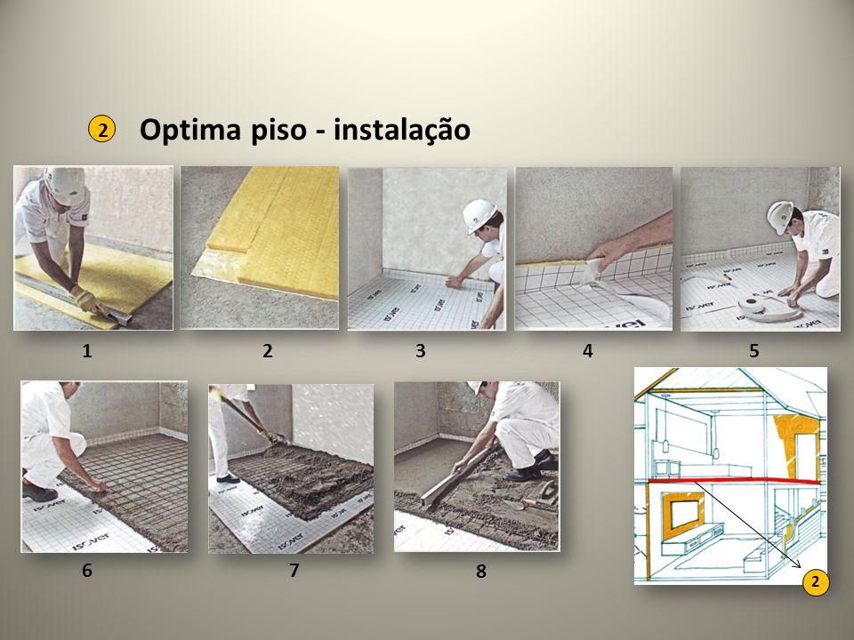 Optima piso - instalação