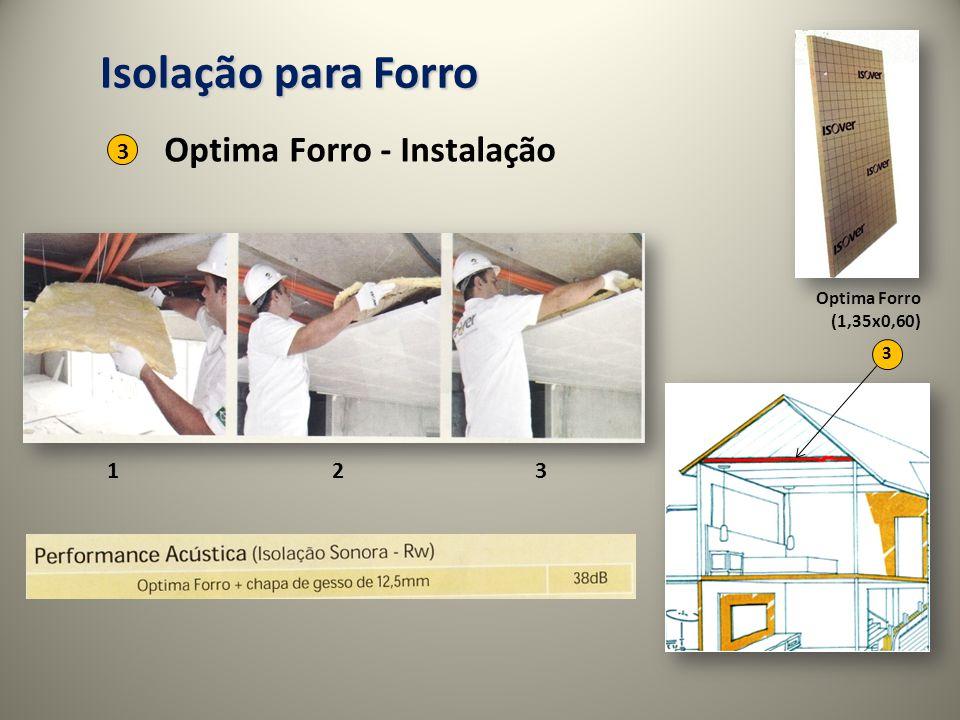 Isolação para Forro Optima Forro - Instalação 3 1 2 3 Optima Forro