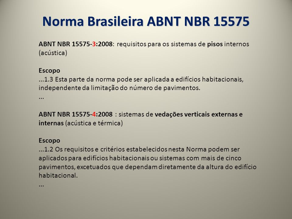 Norma Brasileira ABNT NBR 15575