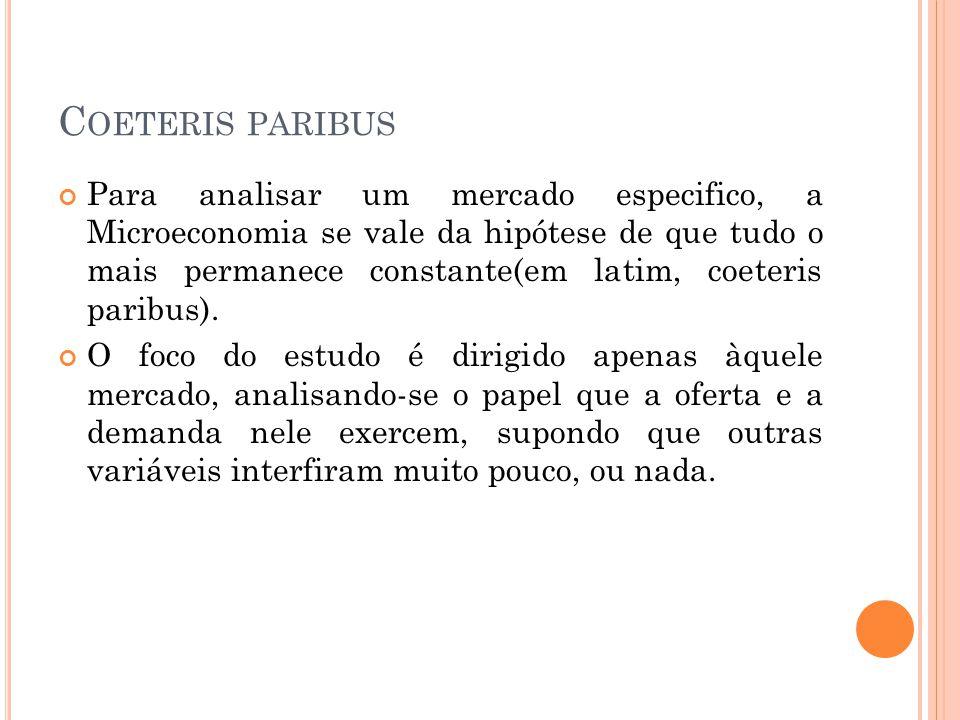 Coeteris paribus