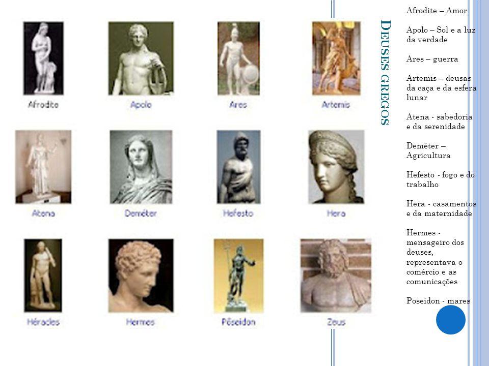 Deuses gregos Afrodite – Amor Apolo – Sol e a luz da verdade