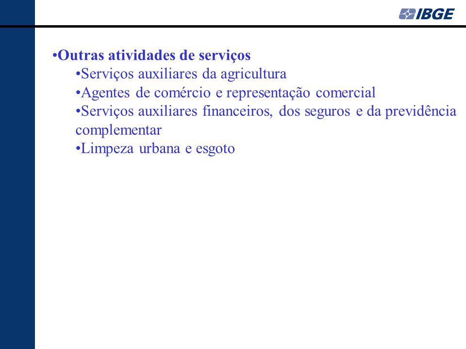 Outras atividades de serviços