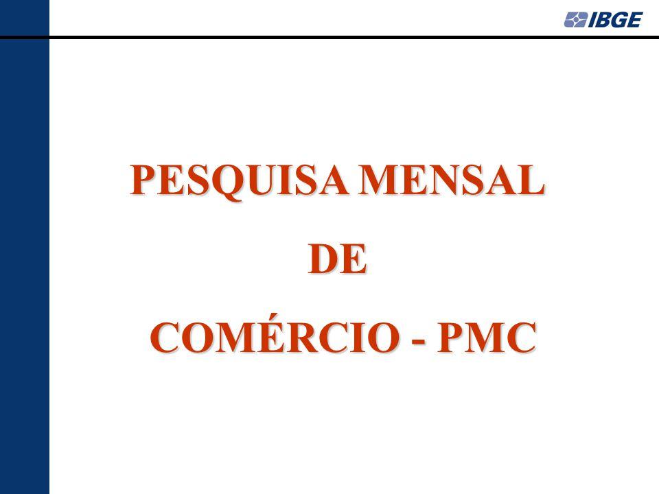 PESQUISA MENSAL DE COMÉRCIO - PMC