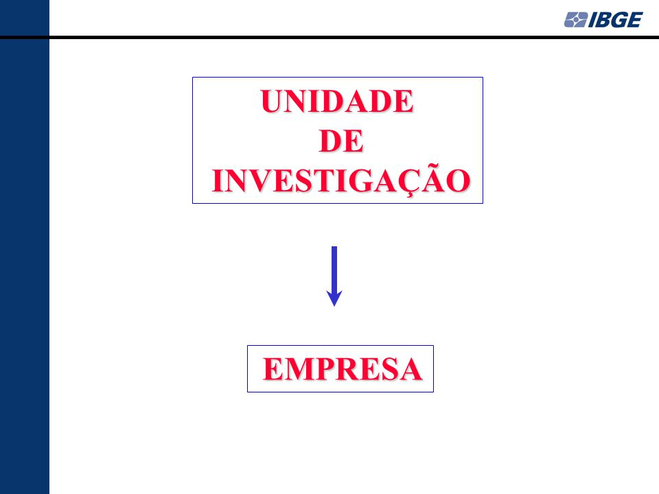 UNIDADE DE INVESTIGAÇÃO EMPRESA