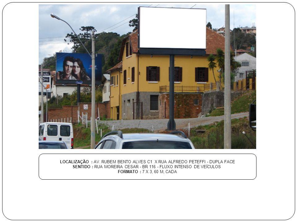 SENTIDO : RUA MOREIRA CESAR - BR 116 - FLUXO INTENSO DE VEÍCULOS