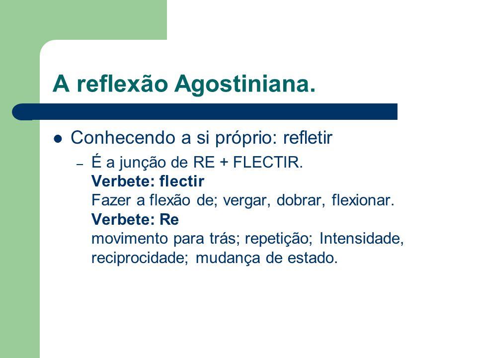 A reflexão Agostiniana.