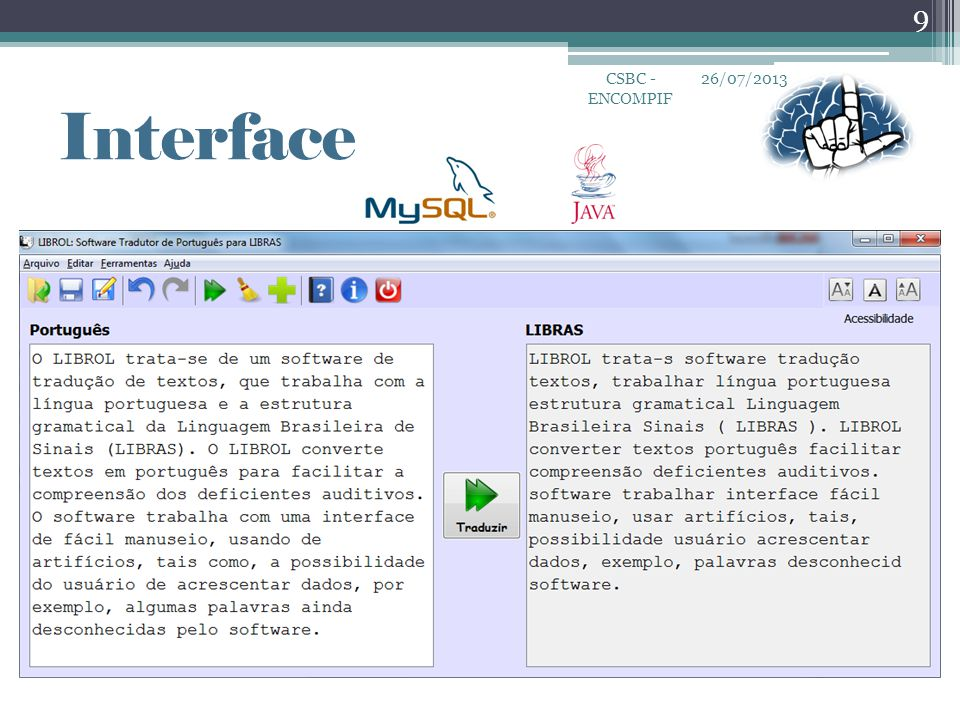CSBC - ENCOMPIF 26/07/2013 Interface