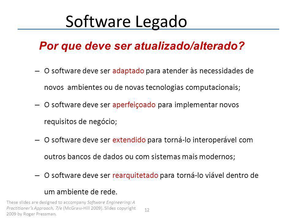 Software Legado Por que deve ser atualizado/alterado