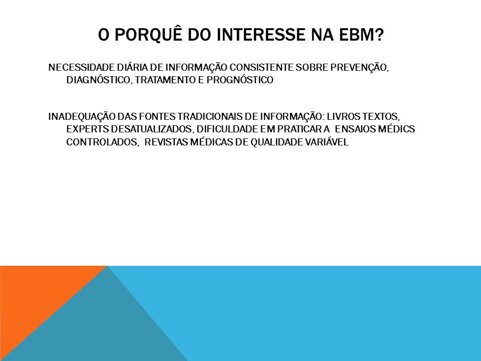 O PORQUÊ DO INTERESSE NA EBM