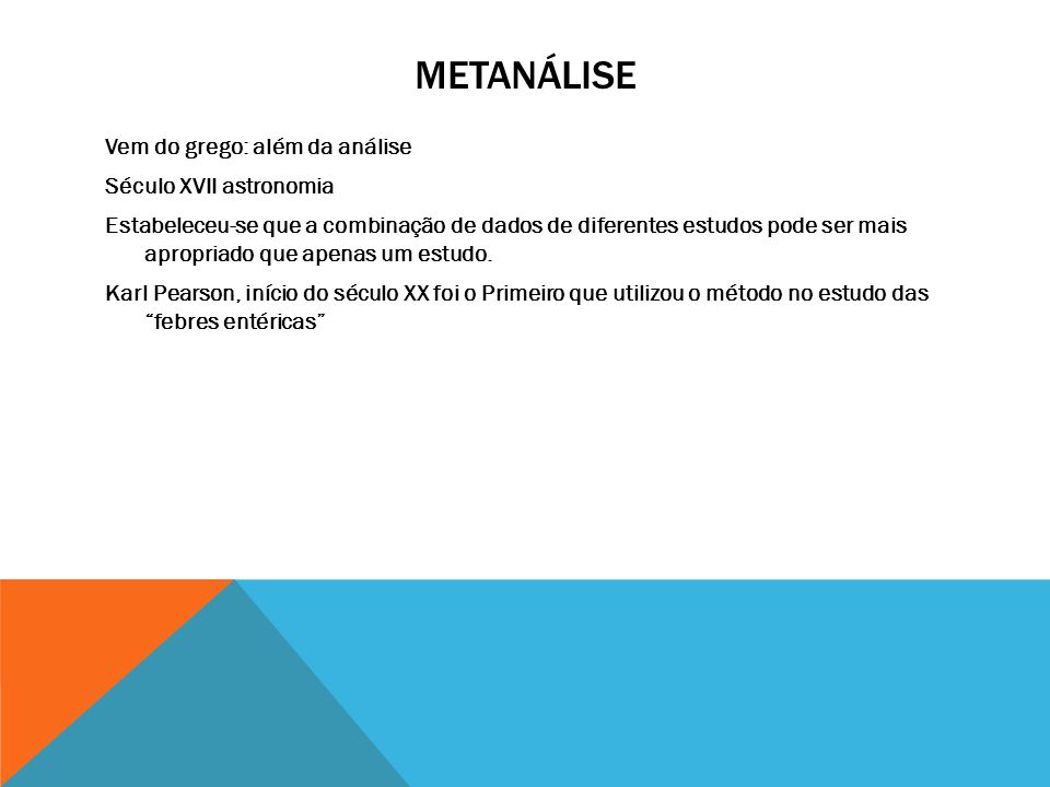 METANÁLISE