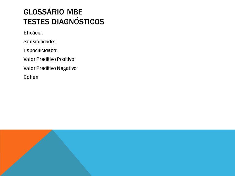 Glossário MBE Testes Diagnósticos