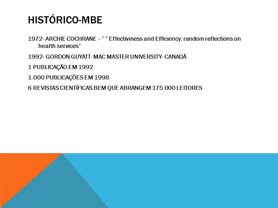 HISTÓRICO-MBE