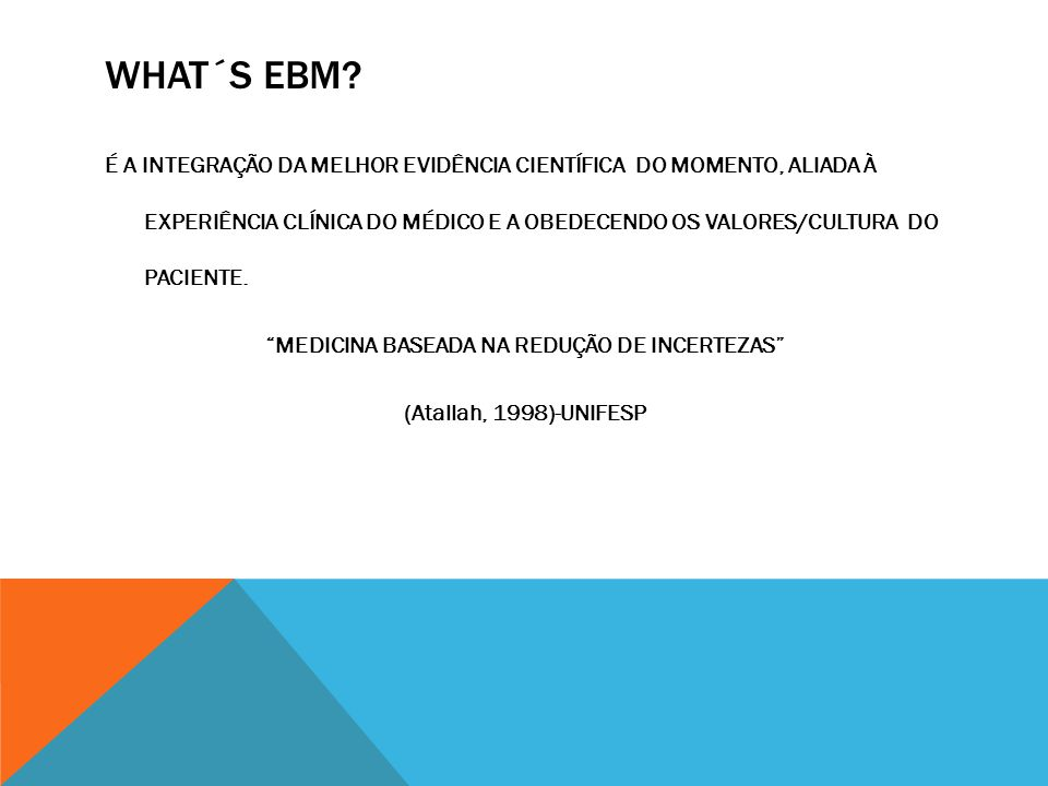 WHAT´S EBM