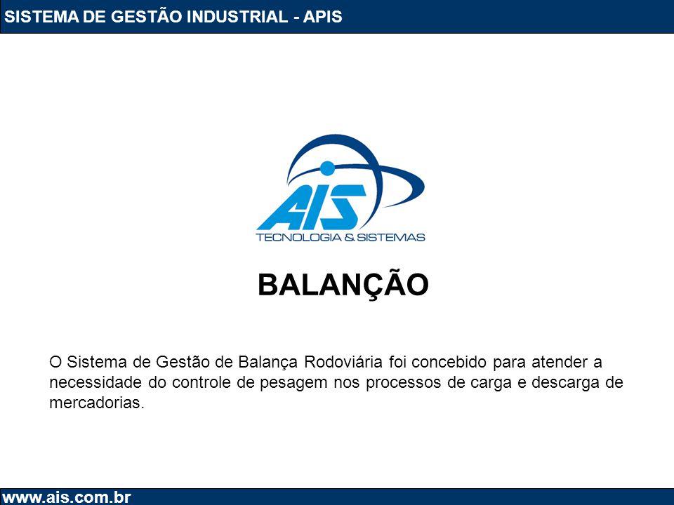 BALANÇÃO SISTEMA DE GESTÃO INDUSTRIAL - APIS