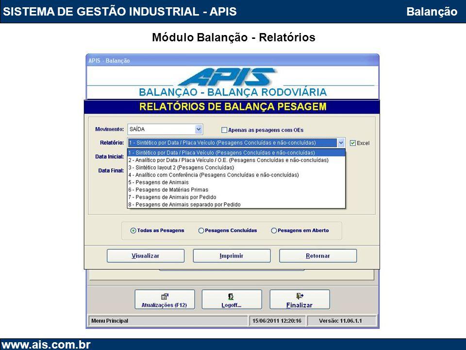 Módulo Balanção - Relatórios