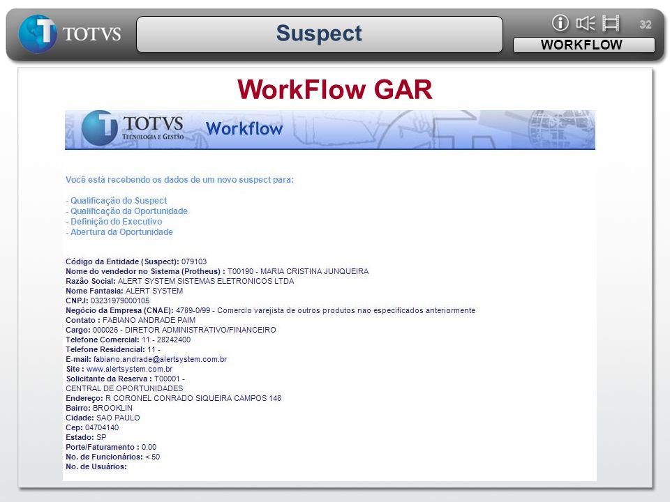 32 Suspect WORKFLOW WorkFlow GAR