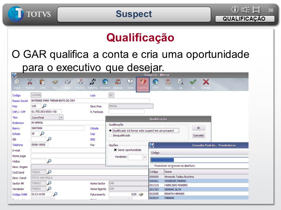 36 Suspect. QUALIFICAÇÃO. Qualificação.