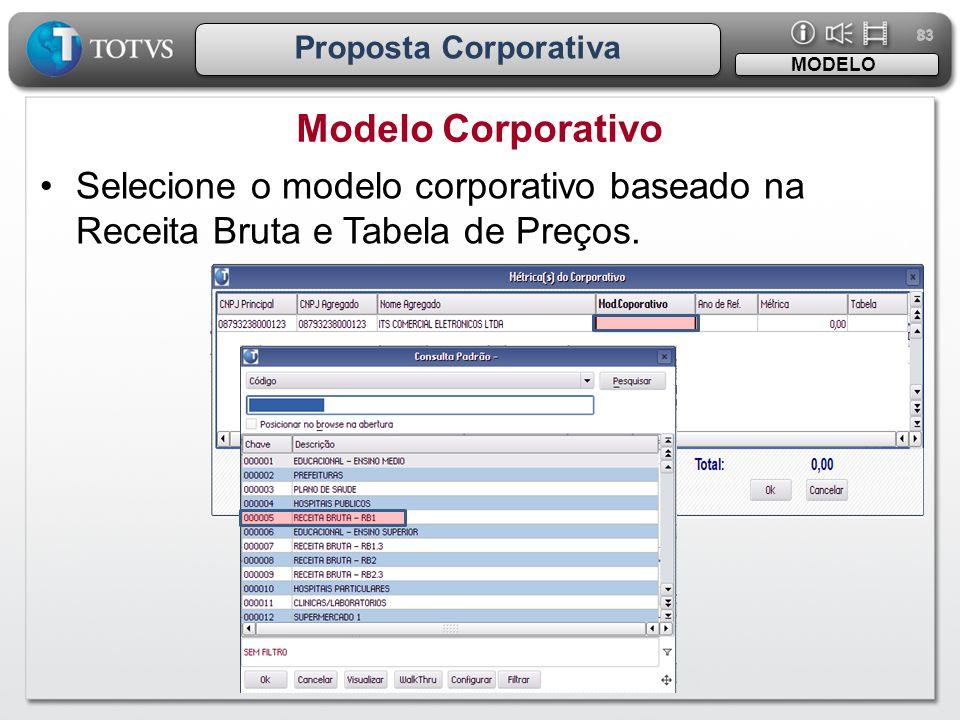 83 Proposta Corporativa. MODELO. Modelo Corporativo.