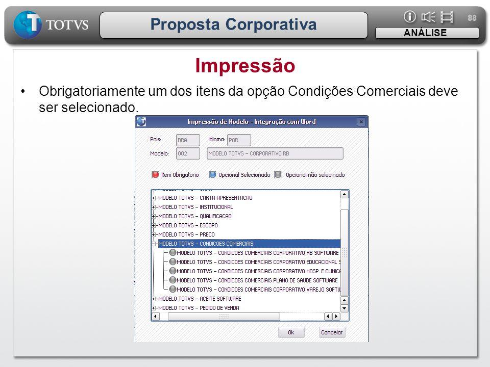 Impressão Proposta Corporativa