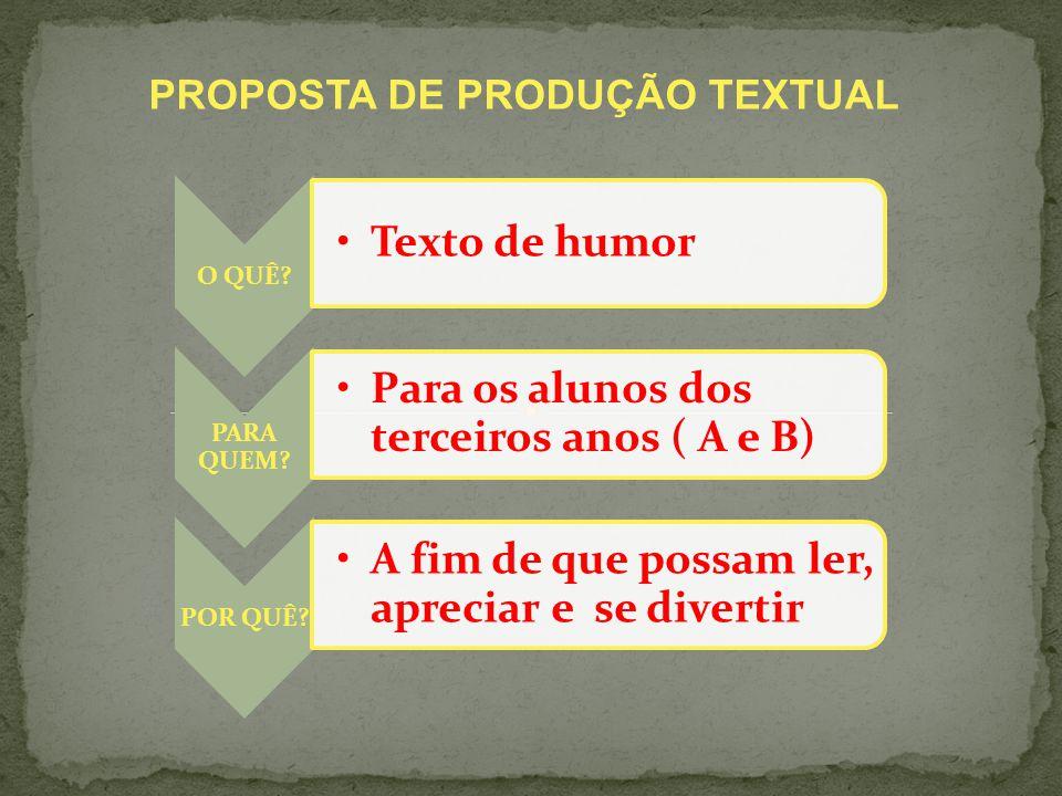 PROPOSTA DE PRODUÇÃO TEXTUAL