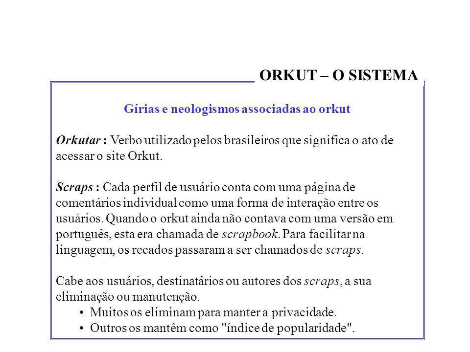 Gírias e neologismos associadas ao orkut