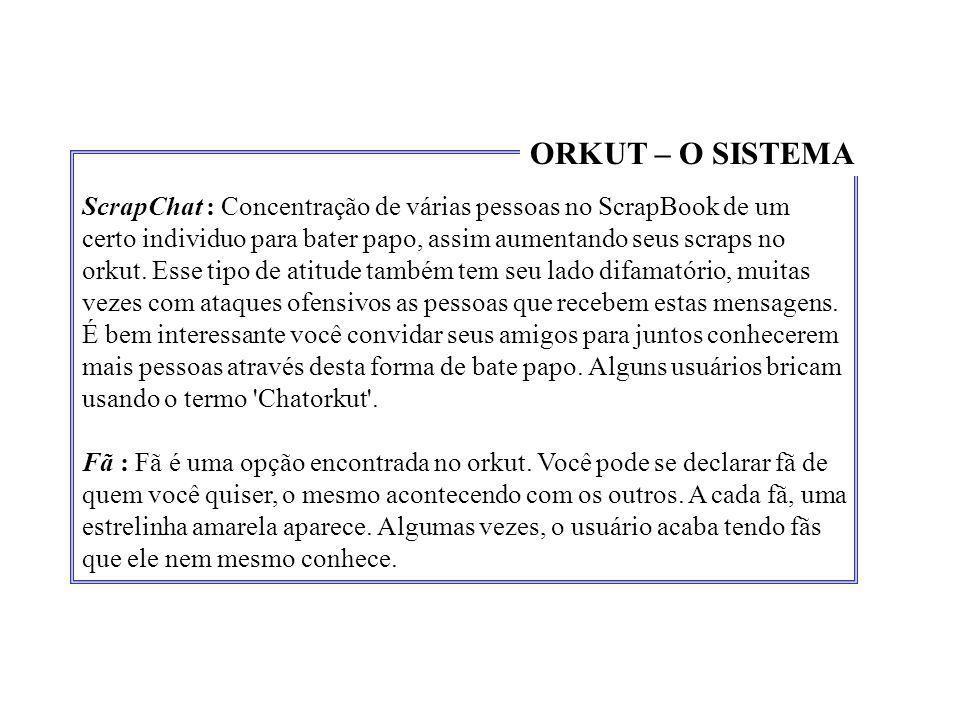 ORKUT – O SISTEMA