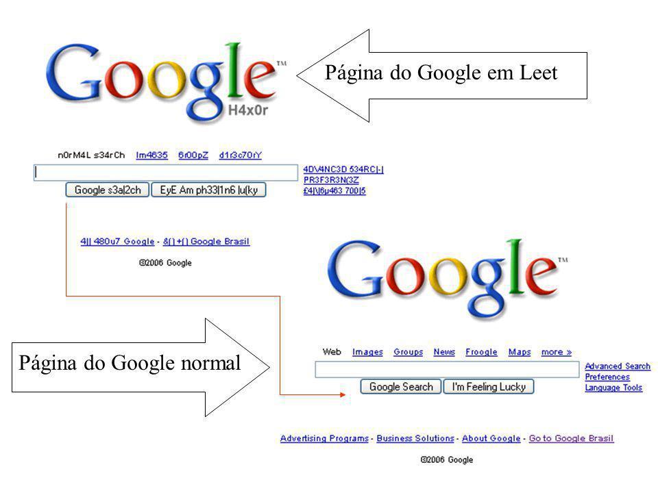 Página do Google em Leet