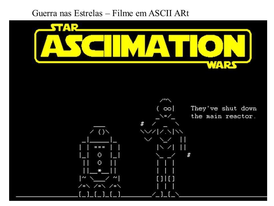 Guerra nas Estrelas – Filme em ASCII ARt