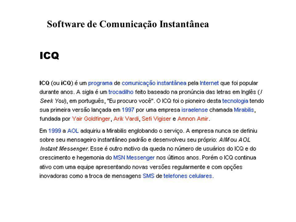 Software de Comunicação Instantânea