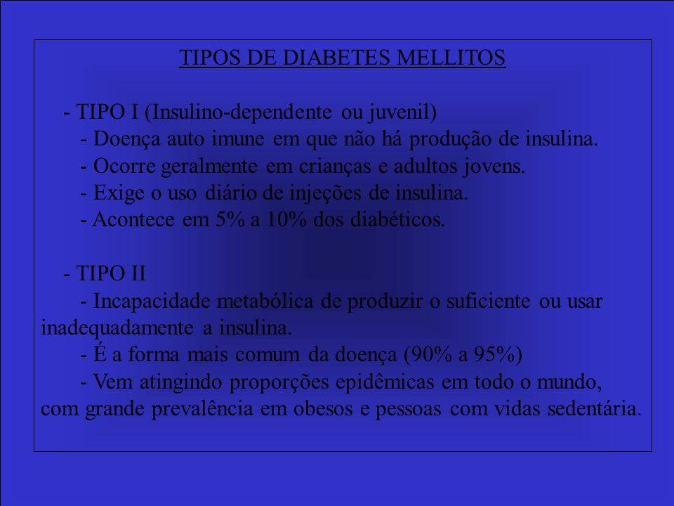 TIPOS DE DIABETES MELLITOS