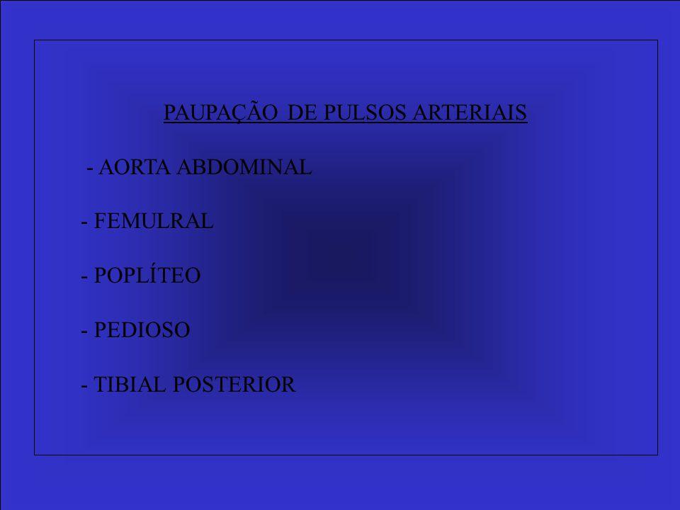 PAUPAÇÃO DE PULSOS ARTERIAIS