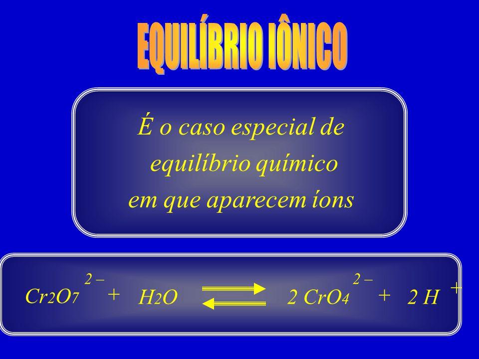 É o caso especial de equilíbrio químico em que aparecem íons