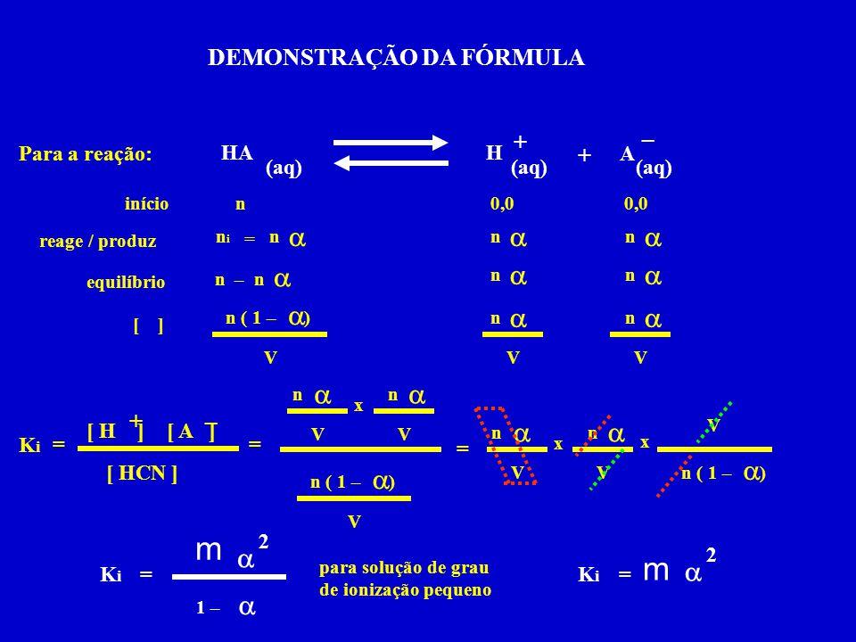 a a a a a a a a a a a a a a a a a a DEMONSTRAÇÃO DA FÓRMULA + – + + –