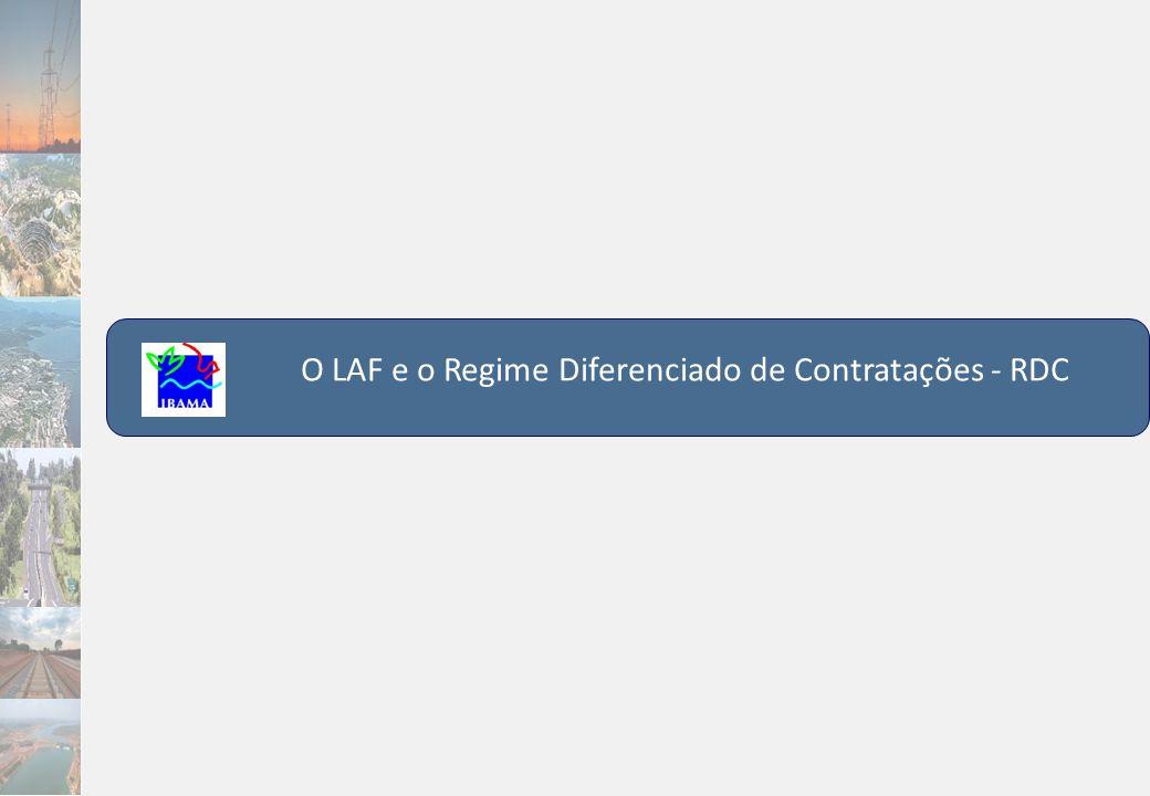 O LAF e o Regime Diferenciado de Contratações - RDC